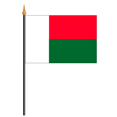 Tischfähnli, an PVC-Stab Madagaskar, 10 x 15 cm