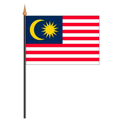 Tischfähnli, an PVC-Stab Malaysia, 10 x 15 cm