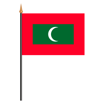 Tischfähnli, an PVC-Stab Malediven, 10 x 15 cm