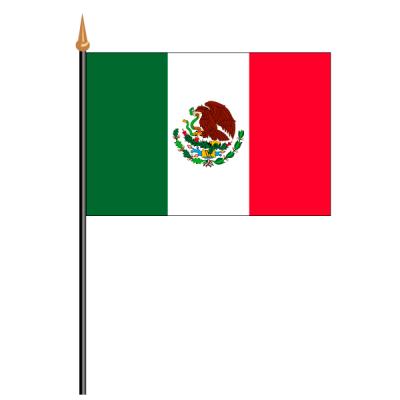 Tischfähnli, an PVC-Stab Mexiko, 10 x 15 cm