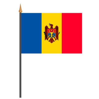Tischfähnli, an PVC-Stab Moldawien, 10 x 15 cm