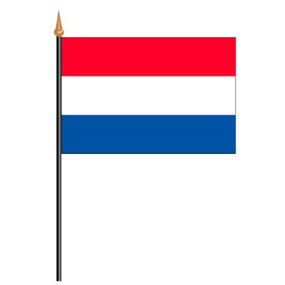 Tischfähnli, an PVC-Stab Niederlande, 10 x 15 cm