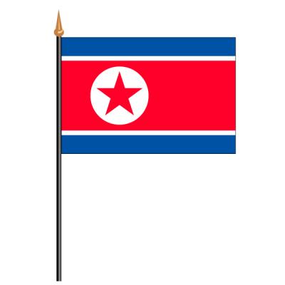 Tischfähnli, an PVC-Stab Nordkorea, 10 x 15 cm