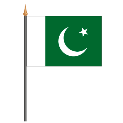 Tischfähnli, an PVC-Stab Pakistan, 10 x 15 cm