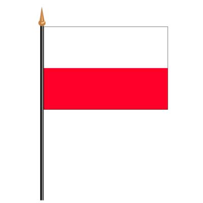 Tischfähnli, an PVC-Stab Polen, 10 x 15 cm