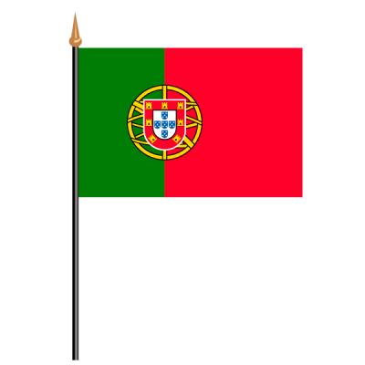 Tischfähnli, an PVC-Stab Portugal, 10 x 15 cm