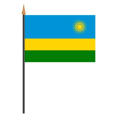 Tischfähnli, an PVC-Stab Ruanda, 10 x 15 cm