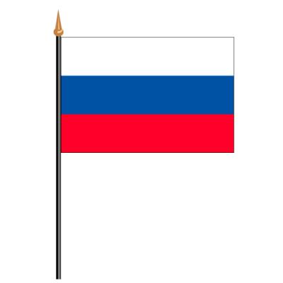 Tischfähnli, an PVC-Stab Russland, 10 x 15 cm
