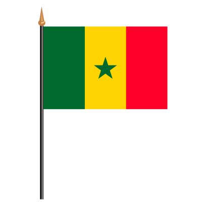 Tischfähnli, an PVC-Stab Senegal, 10 x 15 cm