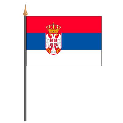 Tischfähnli, an PVC-Stab Serbien, 10 x 15 cm