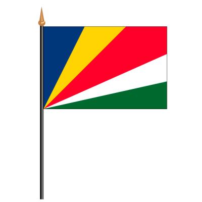 Tischfähnli, an PVC-Stab Seychellen, 10 x 15 cm