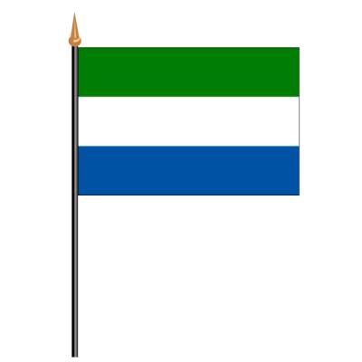 Tischfähnli, an PVC-Stab Sierra Leone, 10 x 15 cm