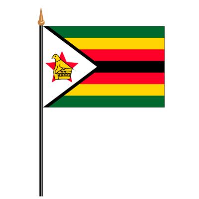Tischfähnli, an PVC-Stab Simbabwe, 10 x 15 cm