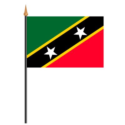 Tischfähnli, an PVC-Stab St. Kitts und Nevis, 10 x 15 cm