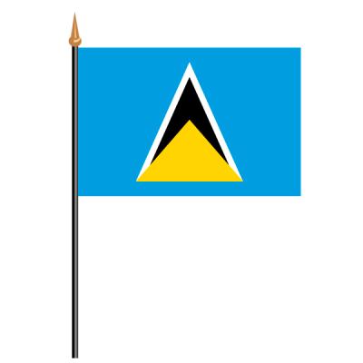 Tischfähnli, an PVC-Stab St. Lucia, 10 x 15 cm