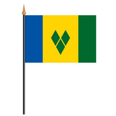 Tischfähnli, an PVC-Stab St. Vincent und die Grenadinen, 10 x 15 cm
