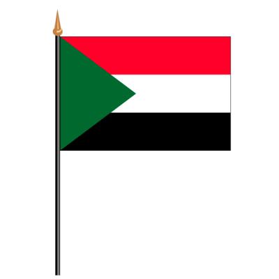 Tischfähnli, an PVC-Stab Sudan, 10 x 15 cm