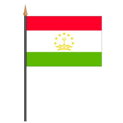 Tischfähnli, an PVC-Stab Tadschikistan, 10 x 15 cm