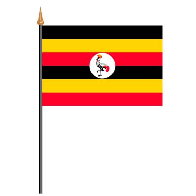 Tischfähnli, an PVC-Stab Uganda, 10 x 15 cm