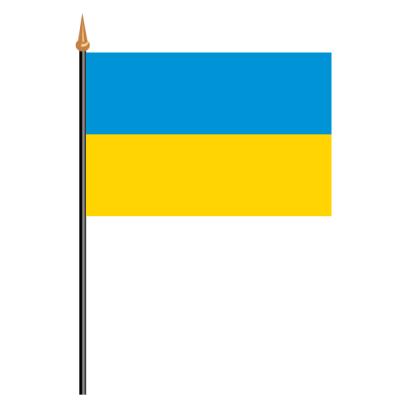 Tischfähnli, an PVC-Stab Ukraine, 10 x 15 cm