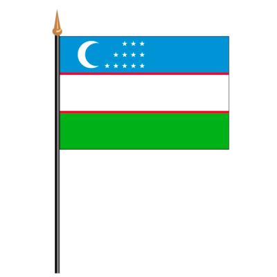 Tischfähnli, an PVC-Stab Usbekistan, 10 x 15 cm