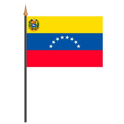 Tischfähnli, an PVC-Stab Venezuela, 10 x 15 cm