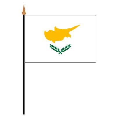 Tischfähnli, an PVC-Stab Zypern, 10 x 15 cm