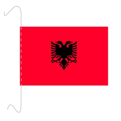 Tischfähnli, inkl.Kordel Albanien, 10 x 15 cm