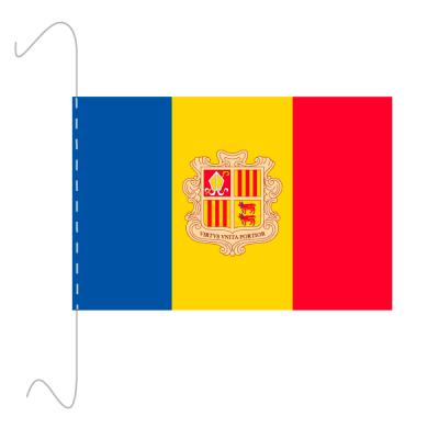 Tischfähnli, inkl.Kordel Andorra, 10 x 15 cm