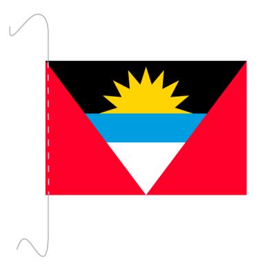 Tischfähnli, inkl.Kordel Antigua und Barbuda, 10 x 15 cm