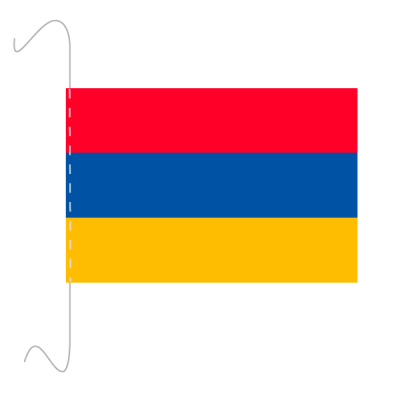 Tischfähnli, inkl.Kordel Armenien, 10 x 15 cm