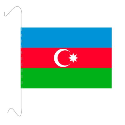 Tischfähnli, inkl.Kordel Aserbaidschan, 10 x 15 cm
