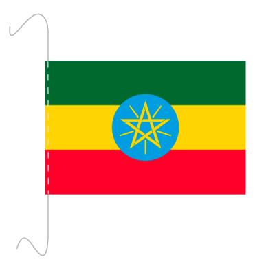 Tischfähnli, inkl.Kordel Äthiopien, 10 x 15 cm