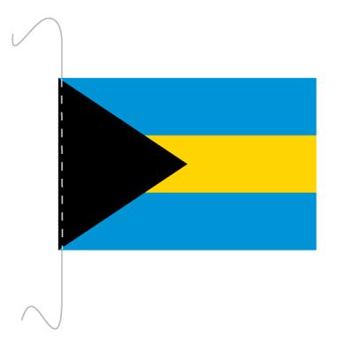 Tischfähnli, inkl.Kordel Bahamas, 10 x 15 cm