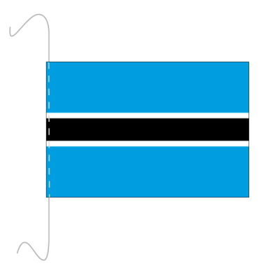 Tischfähnli, inkl.Kordel Botswana, 10 x 15 cm