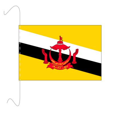 Tischfähnli, inkl.Kordel Brunei, 10 x 15 cm