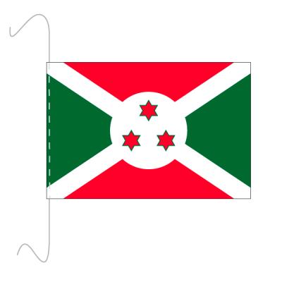Tischfähnli, inkl.Kordel Burundi, 10 x 15 cm