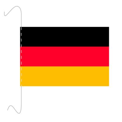 Tischfähnli, inkl.Kordel Deutschland, 10 x 15 cm