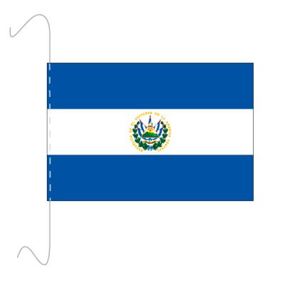 Tischfähnli, inkl.Kordel El Salvador, 10 x 15 cm
