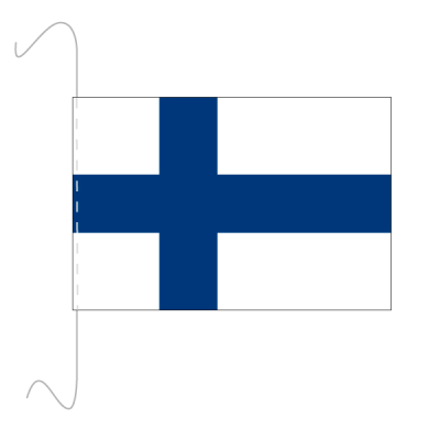 Tischfähnli, inkl.Kordel Finnland, 10 x 15 cm