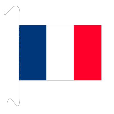 Tischfähnli, inkl.Kordel Frankreich, 10 x 15 cm