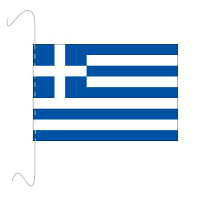 Tischfähnli, inkl.Kordel Griechenland, 10 x 15 cm