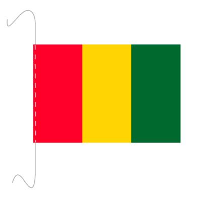 Tischfähnli, inkl.Kordel Guinea, 10 x 15 cm