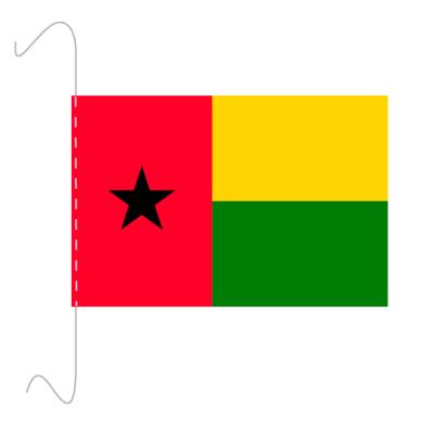 Tischfähnli, inkl.Kordel Guinea-Bissau, 10 x 15 cm