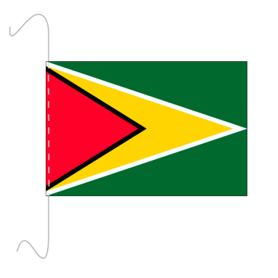 Tischfähnli, inkl.Kordel Guyana, 10 x 15 cm