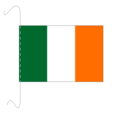 Tischfähnli, inkl.Kordel Irland, 10 x 15 cm