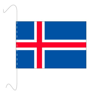 Tischfähnli, inkl.Kordel Island, 10 x 15 cm