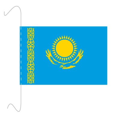 Tischfähnli, inkl.Kordel Kasachstan, 10 x 15 cm