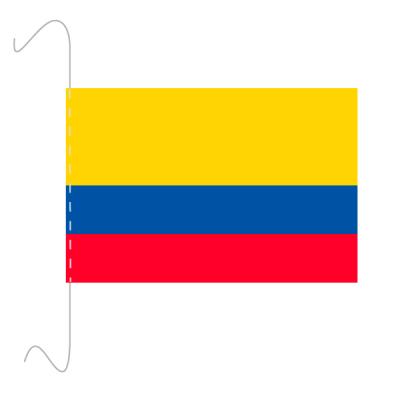 Tischfähnli, inkl.Kordel Kolumbien, 10 x 15 cm