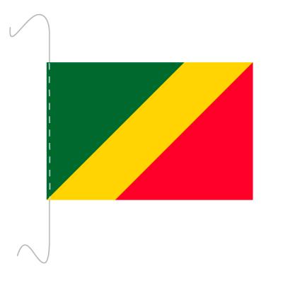 Tischfähnli, inkl.Kordel Republik Kongo, 10 x 15 cm